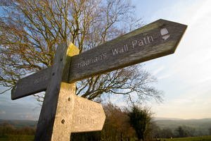 Hadrians Wall national trail at Birdoswald (c) Dave Willis and Cumbria Tourism