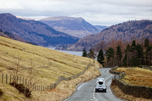 Touring above Thirlmere (c) Steve Barber and Cumbria Tourism