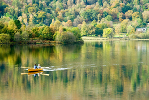 Rowing on Grasmere (c) Dave Willis and Cumbria Tourism