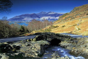 Looking over Ashness Bridge to Derwent Water and Skiddaw (c) Ben Barden and Cumbria Tourism