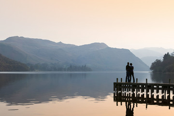 Standing on jetty, Ullswater (c) Tony West and Cumbria Tourism